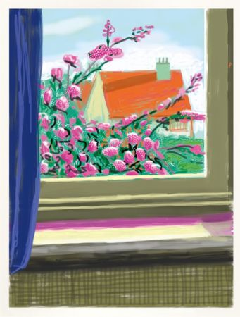 Estampe Numérique Hockney - IPad drawing  'No. 778', 17th April 2011 | Do remember they can't cancel the spring