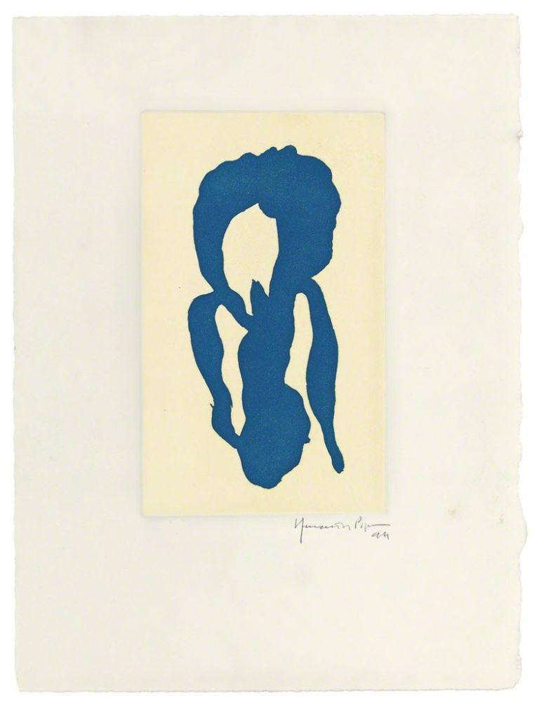 Gravure Hernandez Pijuan - Iris blau 10