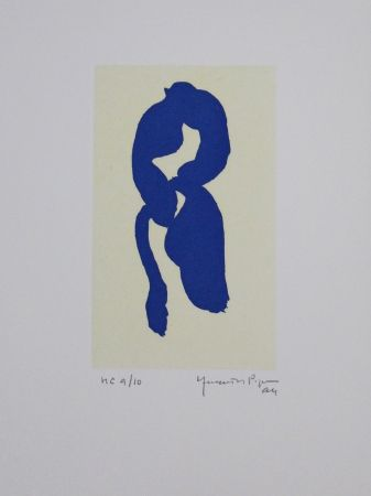 Aquatinte Hernandez Pijuan - Iris blau III / Blue Iris III