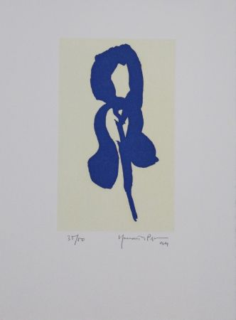 Aquatinte Hernandez Pijuan - Iris blau IV / Blue Iris IV