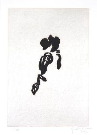 Gravure Hernandez Pijuan - Iris negre II