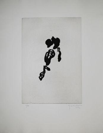 Aquatinte Hernandez Pijuan - Iris negre II (Black Iris II)