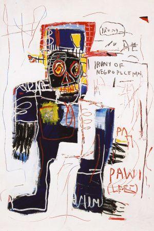 Aucune Technique Basquiat - Irony of negro policeman