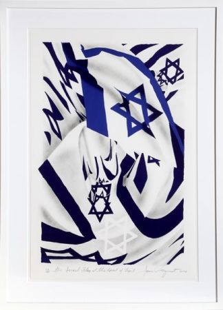 Lithographie Rosenquist - Israel Flag at the Speed of Light