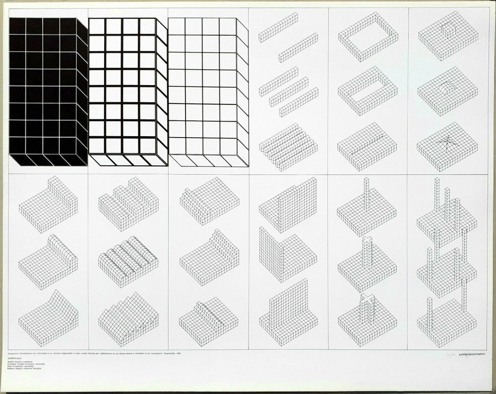 Lithographie Superstudio - Istogrammi