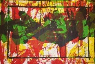 Lithographie Huftier - Jacqueline