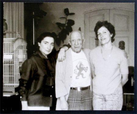 Photographie Picasso - Jacqueline, Picasso et Gilberte Brassai (