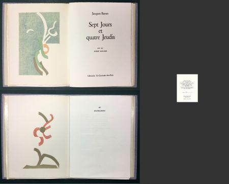 Livre Illustré Beaudin - Jacques Baron : SEPT JOURS ET QUATRE JEUDIS. 2 lithographies originales en couleurs.