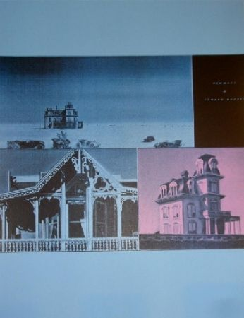 Sérigraphie Monory -  Jacques MONORY USA 76 - The House by the railroad