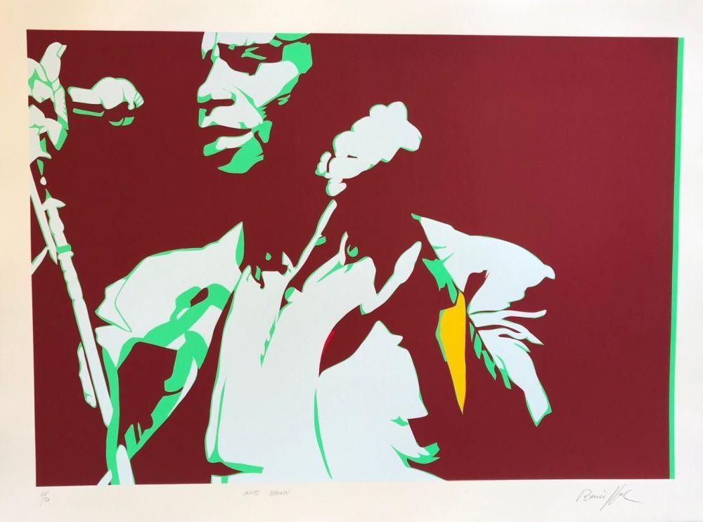Sérigraphie Rancillac - James Brown