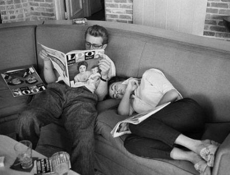 Photographie Miller - James Dean and Elizabeth Taylor