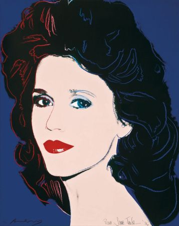 Sérigraphie Warhol - Jane Fonda (FS II.268)