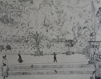 Gravure Vrieslander - Jardin du Luxembourg