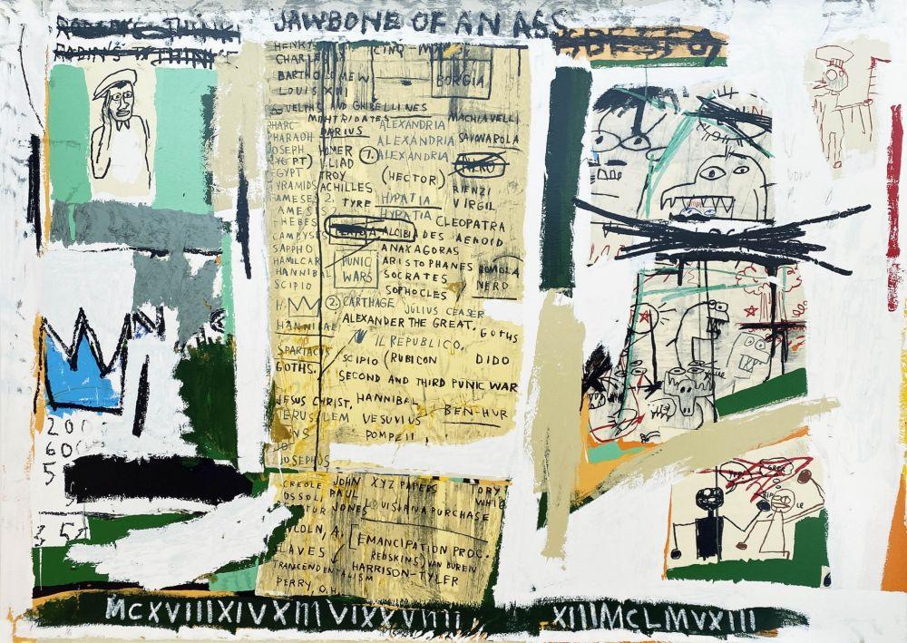Sérigraphie Basquiat - Jawbone of an Ass