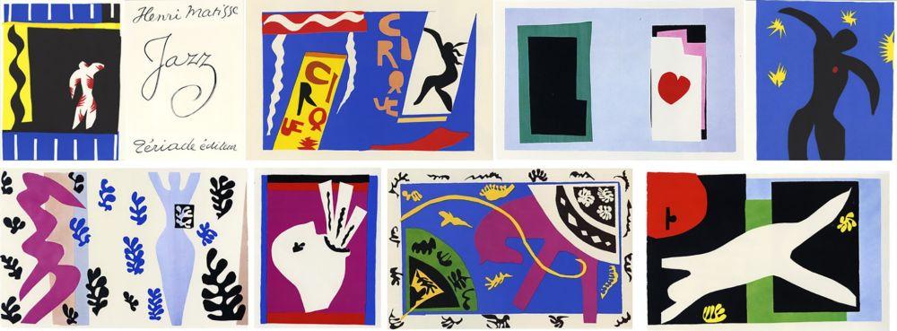 Livre Illustré Matisse - JAZZ (20 lithographies en couleurs hors-texte). 1ère édition.