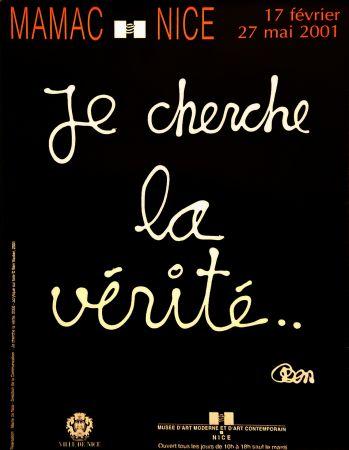 Affiche Vautier - '' Je Cherche la Vérité ''