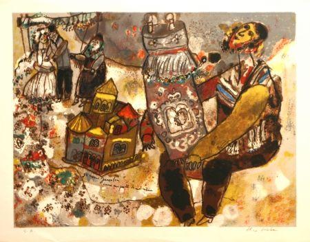 Lithographie Tobiasse -  Je Ressons Jerusalem une partie de moi-meme