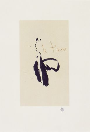 Lithographie Motherwell - Je T'aime