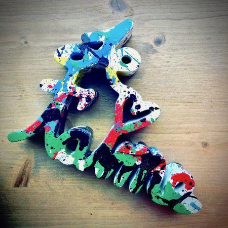 Multiple Mr. Brainwash - Je t`aime Splash multicolor sculpture Street Art