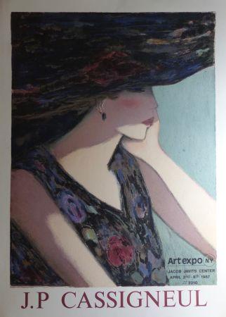 Affiche Cassigneul  - Jean-Pierre Cassigneul (1935 -), art expo New York. 1987. Affiche lithographique