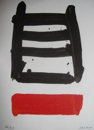 Lithographie Soulages - Jean Cassou: vingt-deux poèms