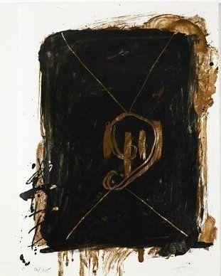 Lithographie Tàpies - Jean Cassou: vingt-deux poèms