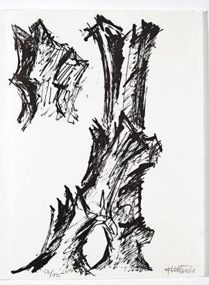 Lithographie Wotruba - Jean Cassou: vingt-deux poèms