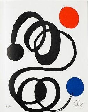 Lithographie Calder - Jean Cassou: vingt-deux poèms