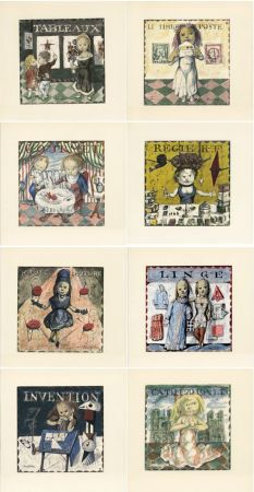 Livre Illustré Foujita - Jean Cocteau : LA MÉSANGÈRE (1963). Ex. sur Japon nacré