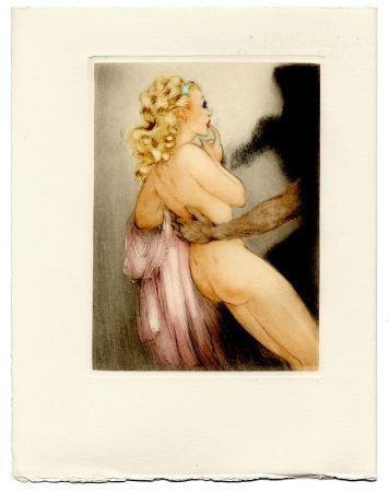 Livre Illustré Icart - Jean de la Fontaine : LES AMOURS DE PSYCHÉ ET DE CUPIDON. Pointes sèches de Louis Icart (1949).