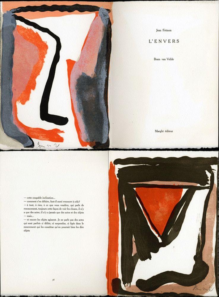 Livre Illustré Van Velde - Jean Frémon. L'ENVERS. Maeght, Paris 1978