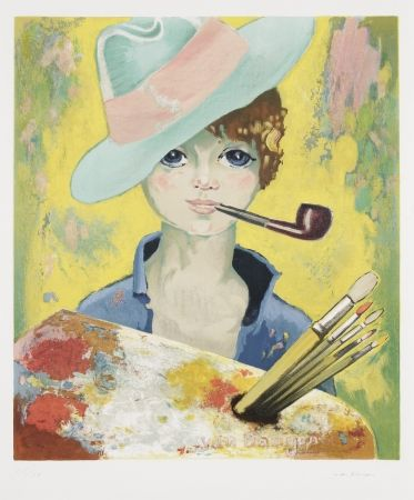 Lithographie Van Dongen - Jean Marie Avec Pipe