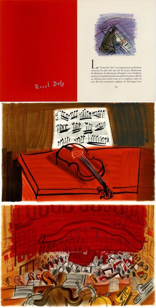 Livre Illustré Dufy - Jean Witold : CONCERT DES ANGES - 9 lithographies en couleurs (1963).