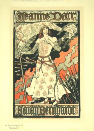 Lithographie Grasset - Jeanne D'arc  Les Maitre de L'affiche Planche 174