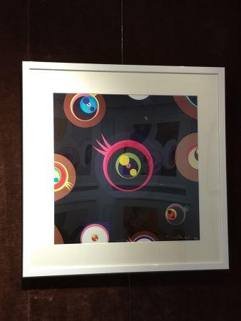 Lithographie Murakami - Jellyfish Eyes black1