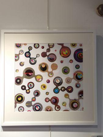 Lithographie Murakami - Jellyfish Eyes white