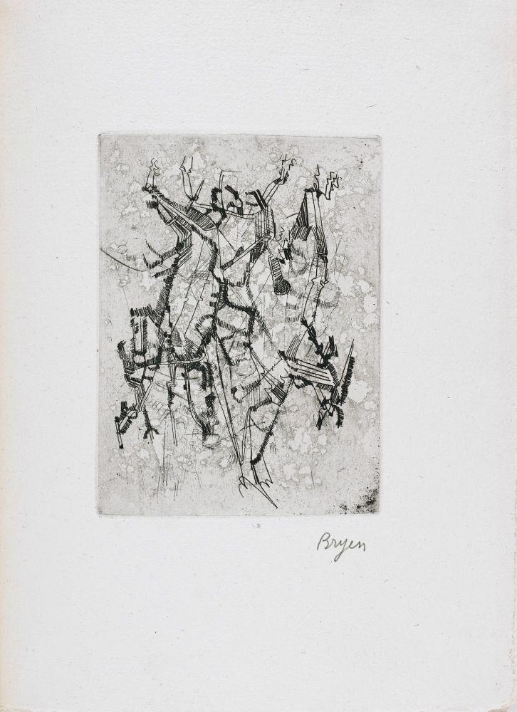 Livre Illustré Bryen - Jepeinsje. Poème et eau-forte de Camille Bryen (1955)