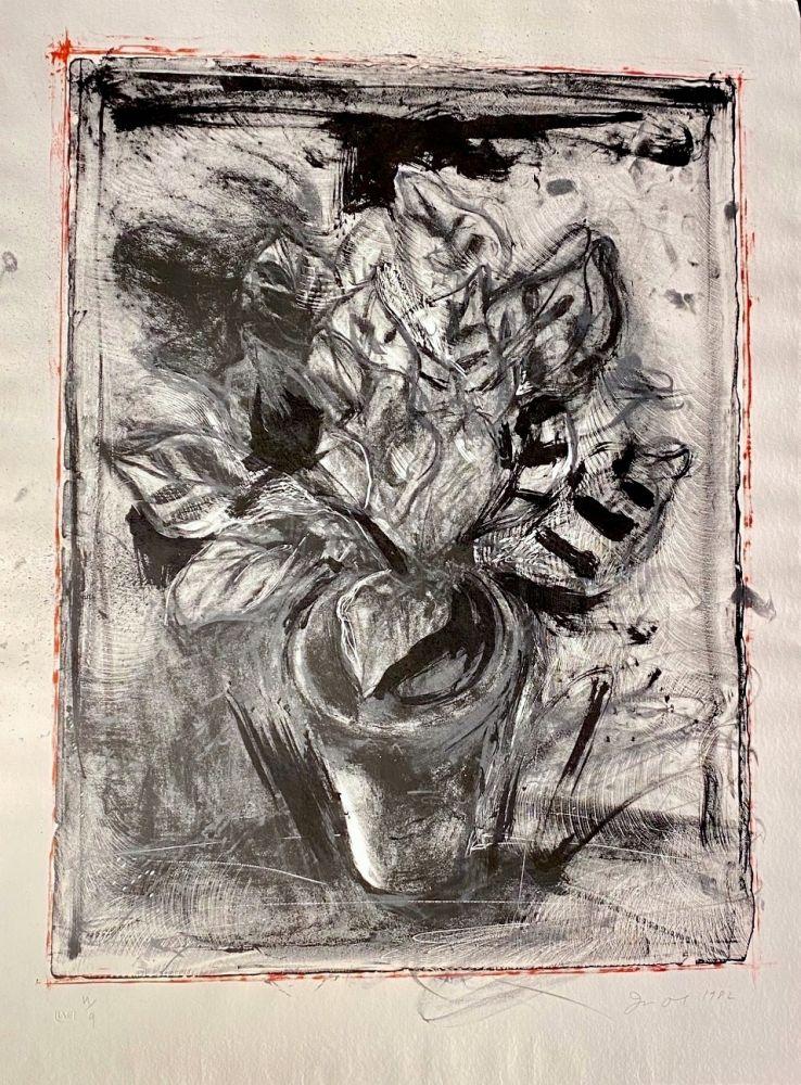 Lithographie Dine - Jerusalem Plant #5