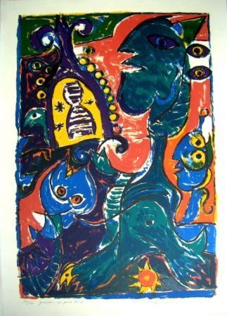 Lithographie Pedersen - Jerusalems syv porte Nr 5, / The seven gates of Jerusalem no 5