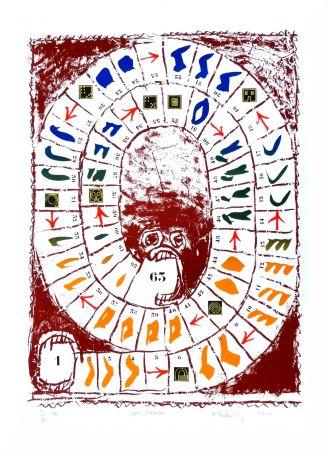 Lithographie Alechinsky - Jeu classique
