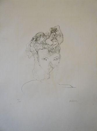 Gravure Bellmer - Jeune-fille