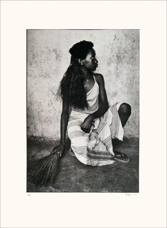 Lithographie Huguier - Jeune fille