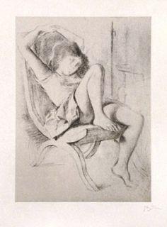 Lithographie Balthus - JEUNE FILLE