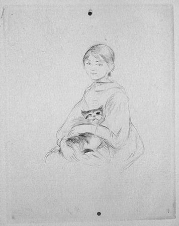 Pointe-Sèche Morisot - Jeune fille au chat