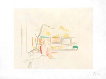 Lithographie Balthus - JEUNE FILLE DE DOS