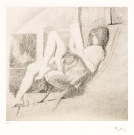 Lithographie Balthus - Jeune fille lisant