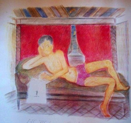 Lithographie Klossowski - Jeune homme