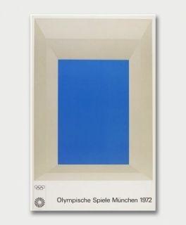 Sérigraphie Albers - Jeux Olympiques de Munich 1972
