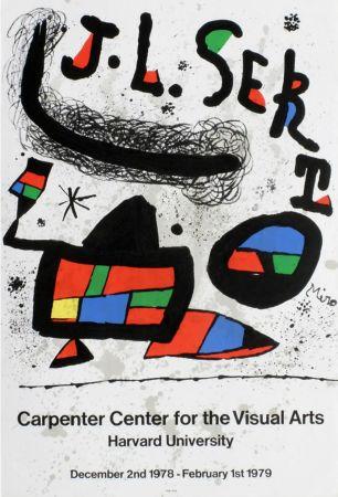 Affiche Miró - J.L. SERT. Carpenter Center for the Visual Arts. Harvard University 1978-1979.