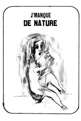 Lithographie Dutertre - J'manque de nature